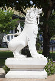 Animal sculptures like Lion for protect thai temple Stock Image