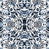 Animal seamless kaleidoscope  print Stock Image