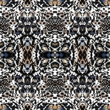 Animal seamless kaleidoscope  print Stock Photos