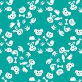 Animal seamless pattern Stock Photos