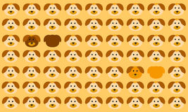 Animal seamless  pattern of dog with difference color can. Be used for background web page and paper Royalty Free Stock Image