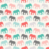Animal seamless pattern of elephant Stock Photo