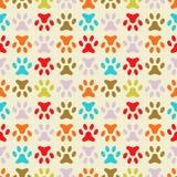Animal seamless  pattern of paw footprint. Endless Stock Images