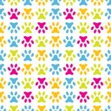 Animal seamless  pattern of paw footprint. Endless Stock Photography