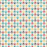 Animal seamless pattern of paw footprint. Endless Royalty Free Stock Photos