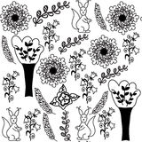 Animal seamless pattern and seamless pattern in swatch menu. vec Royalty Free Stock Image