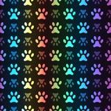 Animal seamless spectrum pattern of paw footprint Royalty Free Stock Image