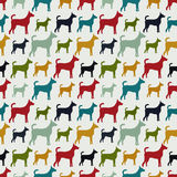 Animal seamless vector pattern of dog silhouettes Royalty Free Stock Photos