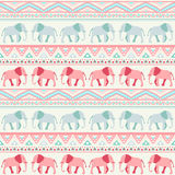 Animal seamless vector pattern of elephant Royalty Free Stock Image