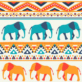 Animal seamless vector pattern of elephant Royalty Free Stock Images
