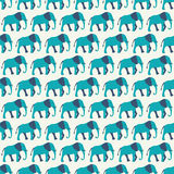 Animal seamless vector pattern of elephant Stock Photography