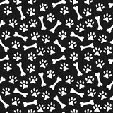 Animal seamless vector pattern of paw footprint Stock Images