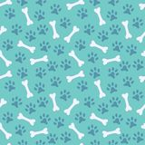 Animal seamless vector pattern of paw footprint Royalty Free Stock Images
