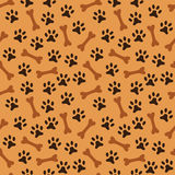 Animal seamless vector pattern of paw footprint Royalty Free Stock Photography