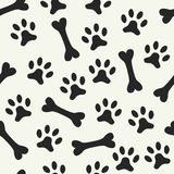 Animal seamless vector pattern of paw footprint Royalty Free Stock Photo