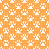 Animal seamless vector pattern of paw footprint Stock Photos