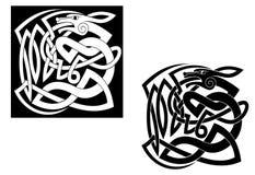 Animal selvagem abstrato no celtic ilustração stock