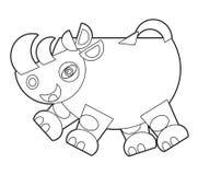 Animal selvagem dos desenhos animados - página da coloração para as crianças ilustração do vetor