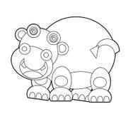 Animal selvagem dos desenhos animados - página da coloração para as crianças ilustração royalty free