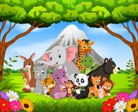Animal selvagem na selva ilustração stock