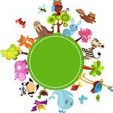 Animal set. Vector Illustration of a colorful animal set Royalty Free Stock Photos