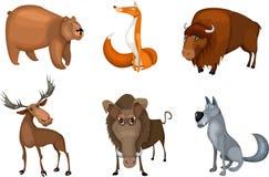 Animal set. Vector Illustration of a cute animal set Stock Image