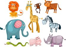 Animal set. Vector illustration of a cute animal set Stock Photos