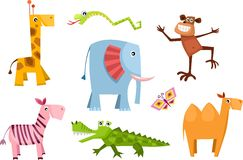 Animal set. Vector Illustration of a animal set Royalty Free Stock Images