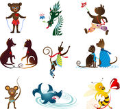 Animal set Stock Images