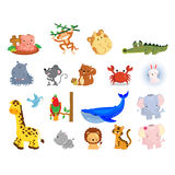 Animal Vector Set Stock Images