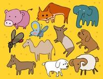 Animal set flat Stock Photography