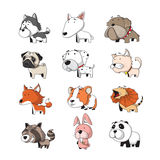 Animal set 2. Funny Animal Vector illustration Icon Set Royalty Free Stock Photography