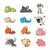 Animal set 3. Funny Animal Vector illustration Icon Set Royalty Free Stock Image