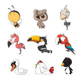 Animal set 4. Funny Animal Vector illustration Icon Set Royalty Free Stock Photo
