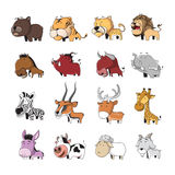 Animal set 5. Funny Animal Vector illustration Icon Set Royalty Free Stock Photos