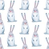 Animal set. Hare. Seamless pattern 1 Stock Photography