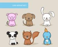 Animal set I. Royalty Free Stock Images