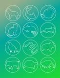 Animal set icon Stock Photos