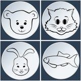 Animal set icon. Royalty Free Stock Image