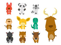 10 Animal Set Stock Photography