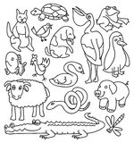 Animal set in shape vector Stock Photography