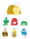 Animal Set : Slug, Crocodile,Octopus,T urtle,Chicken,Bee & Fish. Vector Illustration Design .eps 10 Royalty Free Stock Images