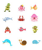 Animal set vector Royalty Free Stock Images