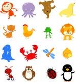 Animal sets. Illustration of group of animal sets Royalty Free Stock Photography