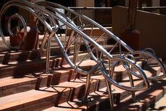 Animal shape stair rail. Mordern lizard shape stair rail Royalty Free Stock Image