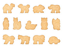 Animal Shaped Cookies. Set of animal shaped cookies. Isolated on white Stock Photography