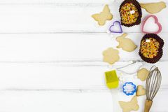 Animal shaped cookies. star cookies etc. royalty free stock images