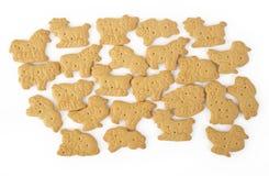 Animal shaped  cracker isolated on white Royalty Free Stock Photos