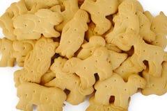 Animal shaped cracker isolated on white Royalty Free Stock Image