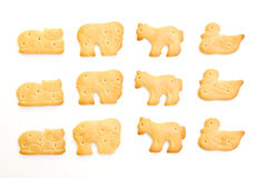 Animal shaped crackers Stock Photo